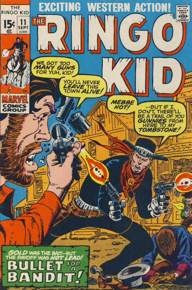 Couverture de Ringo Kid (The) Vol 2 (Marvel - 1970) -11- Bullet for a Bandit!