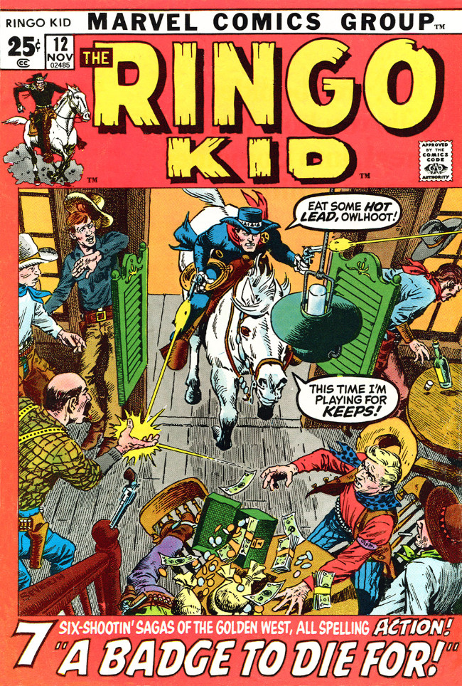 Couverture de Ringo Kid (The) Vol 2 (Marvel - 1970) -12- A Badge To Die For!