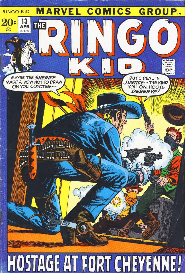 Couverture de Ringo Kid (The) Vol 2 (Marvel - 1970) -13- Hostage at Fort Cheyenne!