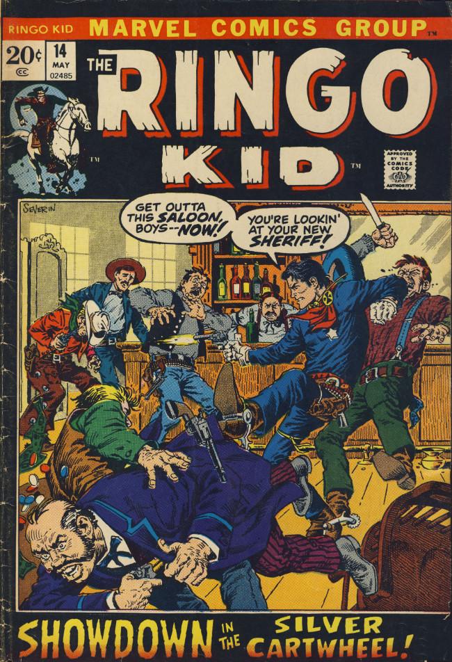 Couverture de Ringo Kid (The) Vol 2 (Marvel - 1970) -14- Showdown in the Silver Cartwheel!
