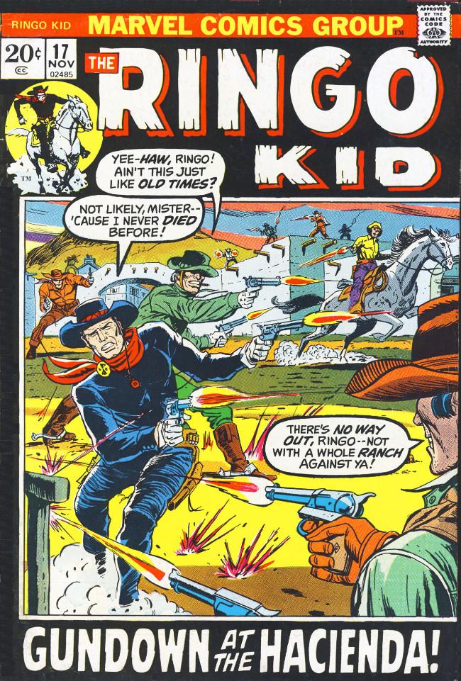 Couverture de Ringo Kid (The) Vol 2 (Marvel - 1970) -17- Gundown at the Hacienda!
