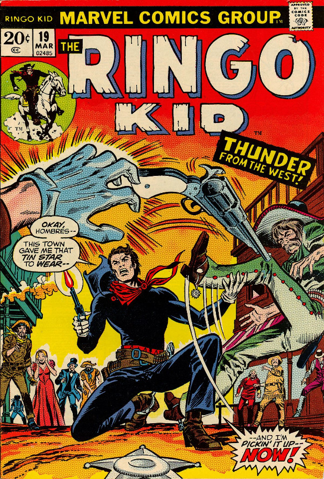 Couverture de Ringo Kid (The) Vol 2 (Marvel - 1970) -19- Thunder from the West!