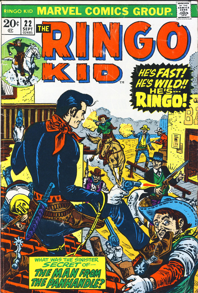 Couverture de Ringo Kid (The) Vol 2 (Marvel - 1970) -22- The Man from the Panhandle!