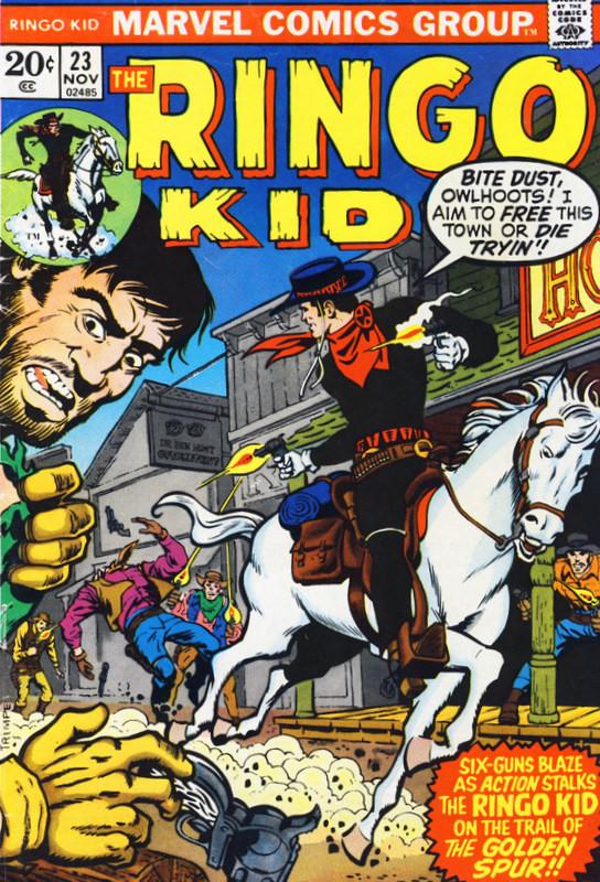 Couverture de Ringo Kid (The) Vol 2 (Marvel - 1970) -23- The Golden Spur!