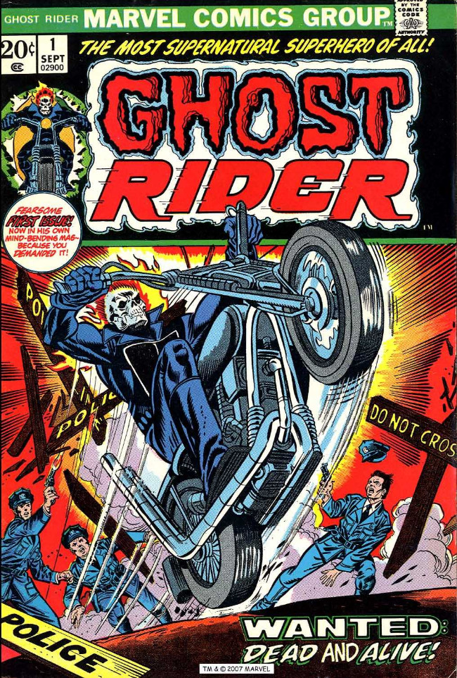 Couverture de Ghost Rider Vol.2 (Marvel comics - 1973) -1- Wanted: Dead or Alive!