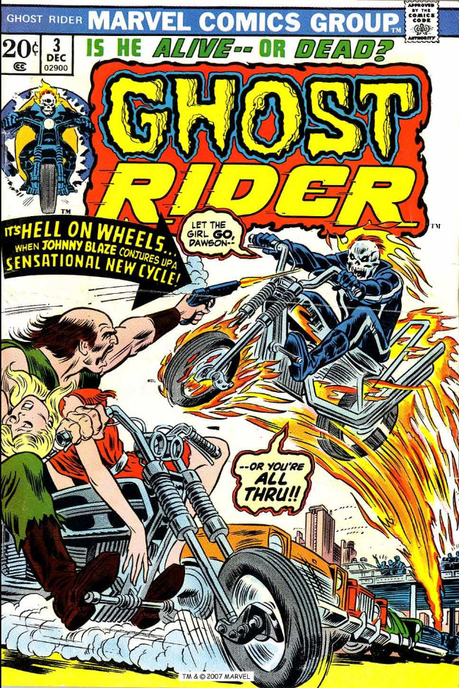 Couverture de Ghost Rider Vol.2 (Marvel comics - 1973) -3- It's Hell on Wheels...