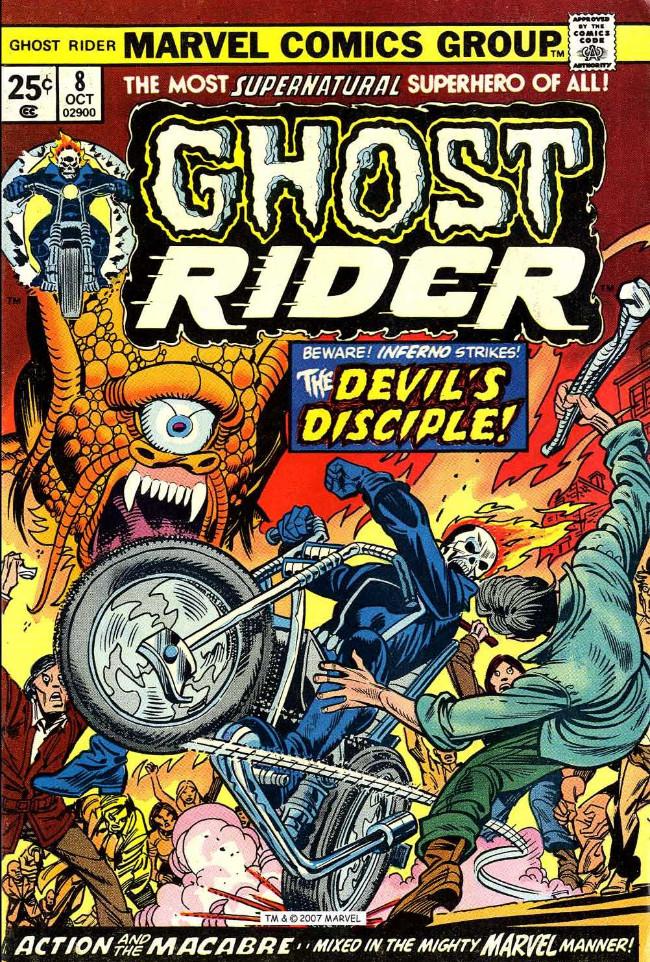 Couverture de Ghost Rider Vol.2 (Marvel comics - 1973) -8- The Devil's Disciple!