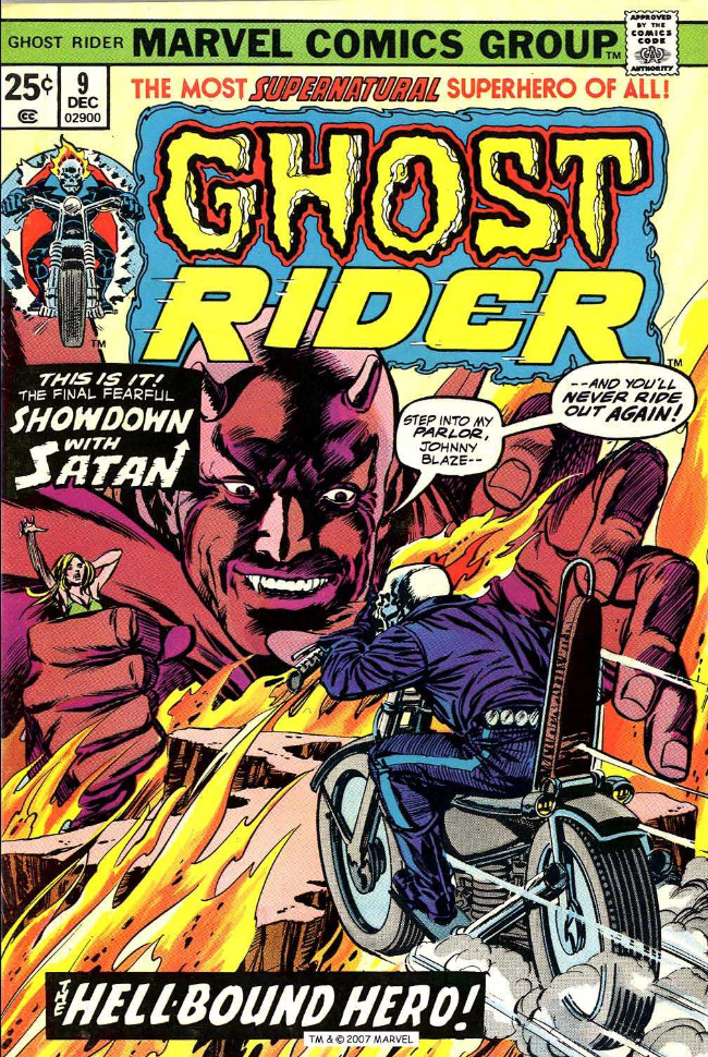 Couverture de Ghost Rider Vol.2 (Marvel comics - 1973) -9- The Hell-Bound Hero!