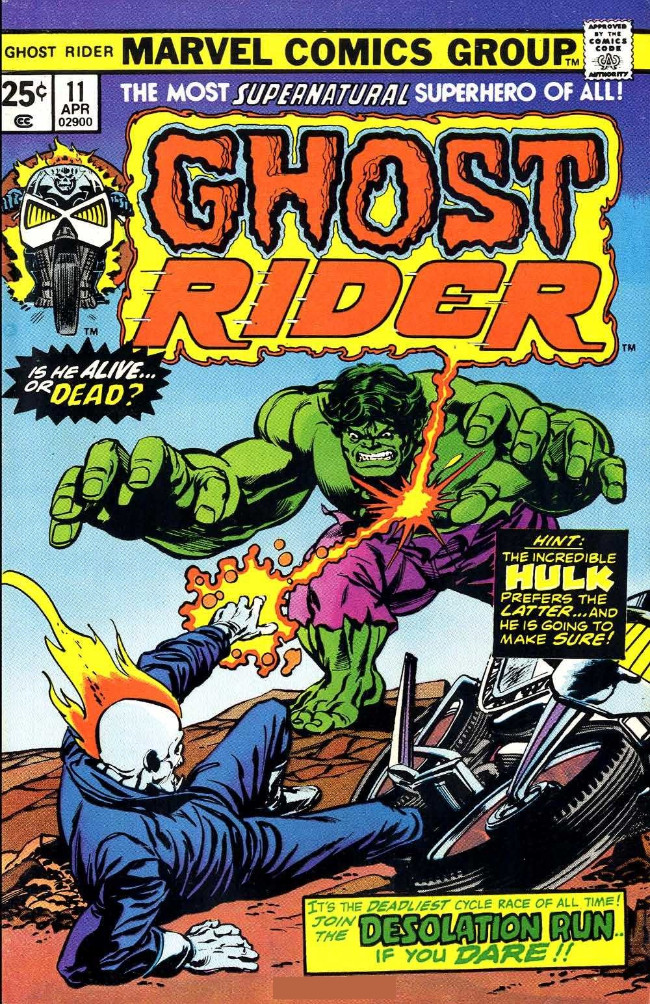Couverture de Ghost Rider Vol.2 (Marvel comics - 1973) -11- Desolation Run