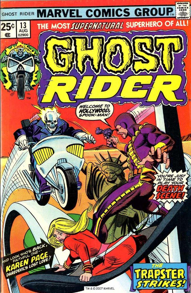 Couverture de Ghost Rider Vol.2 (Marvel comics - 1973) -13- You've Got a Second Chance, Johnny Blaze!