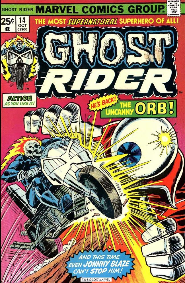 Couverture de Ghost Rider Vol.2 (Marvel comics - 1973) -14- A Specter Stalks the Soundstage!