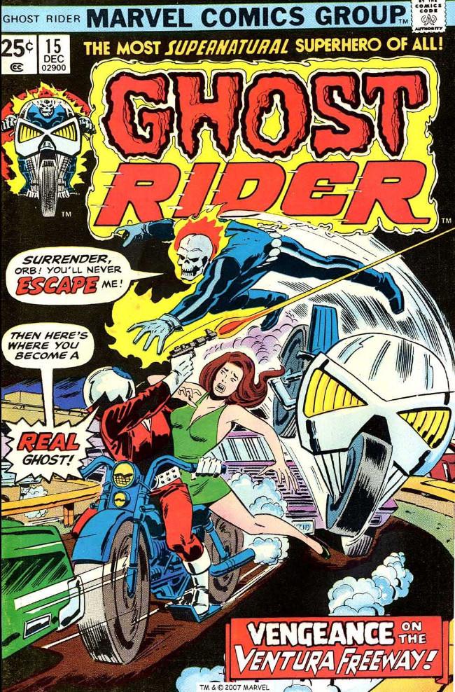 Couverture de Ghost Rider Vol.2 (Marvel comics - 1973) -15- Vengeance on the Ventura Freeway!