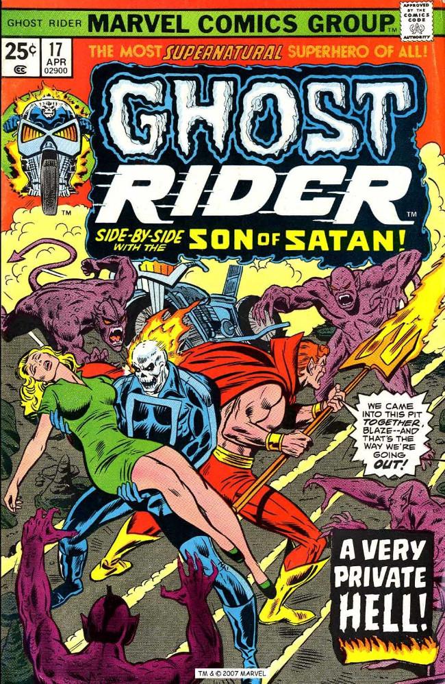 Couverture de Ghost Rider Vol.2 (Marvel comics - 1973) -17- Prelude to a Private Armageddon!