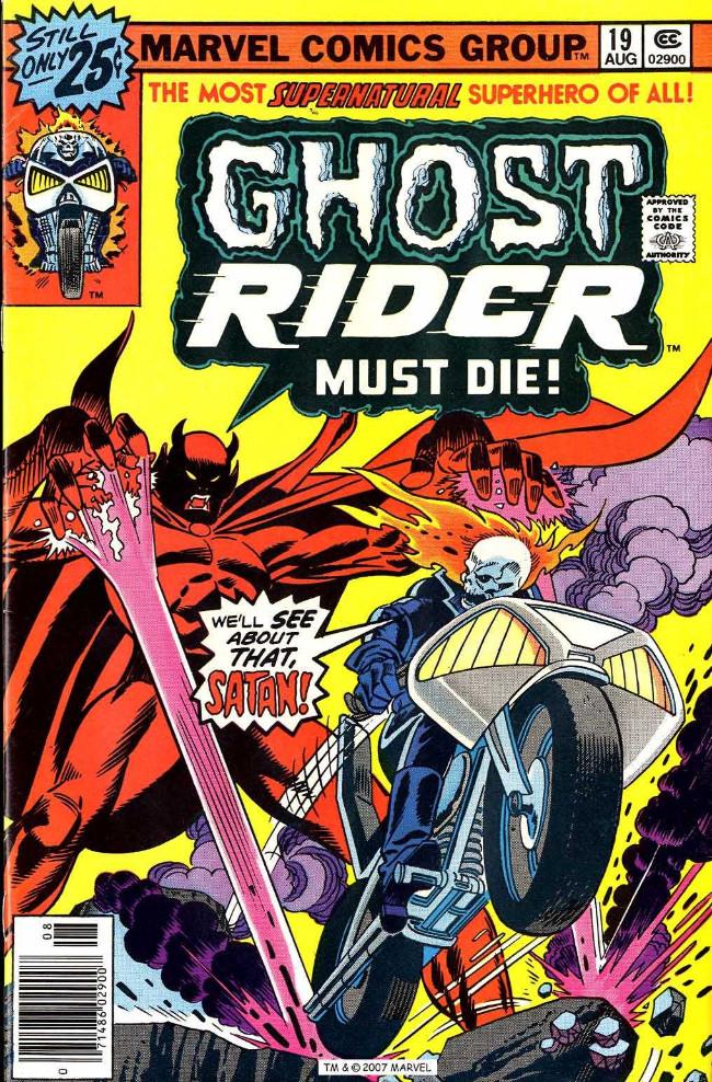 Couverture de Ghost Rider Vol.2 (Marvel comics - 1973) -19- Resurrection!
