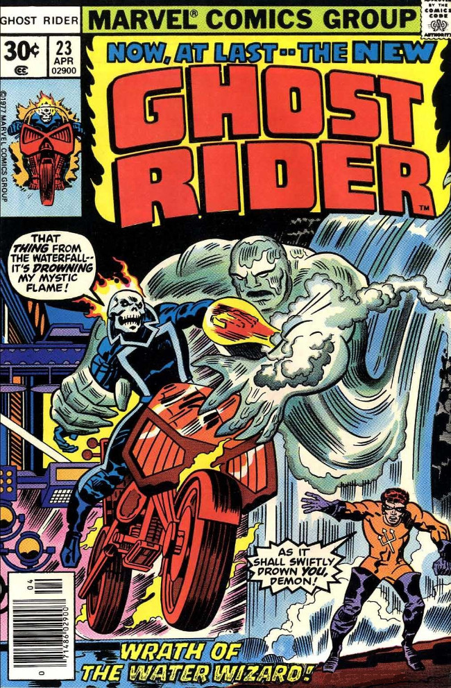 Couverture de Ghost Rider Vol.2 (Marvel comics - 1973) -23- Wrath of the Water Wizard!