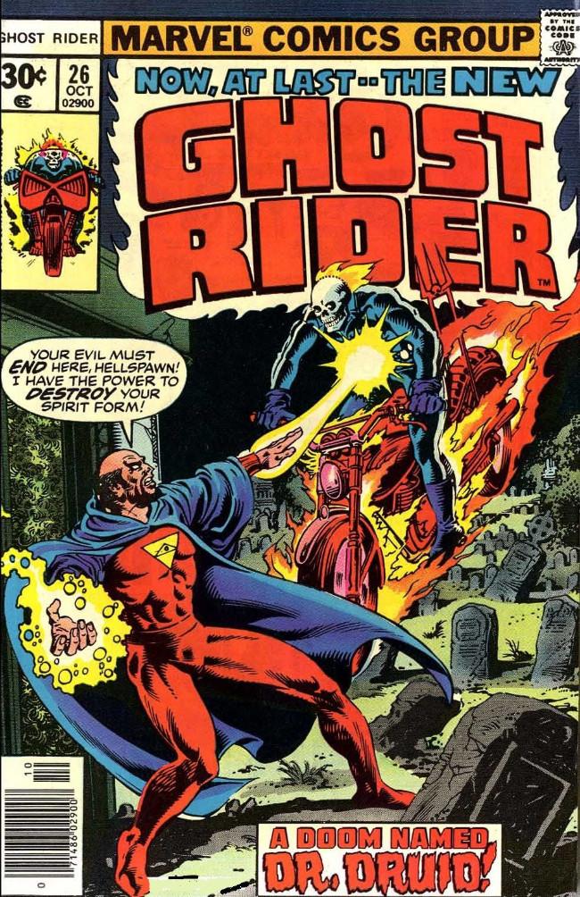 Couverture de Ghost Rider Vol.2 (Marvel comics - 1973) -26- A Doom Named Dr. Druid!
