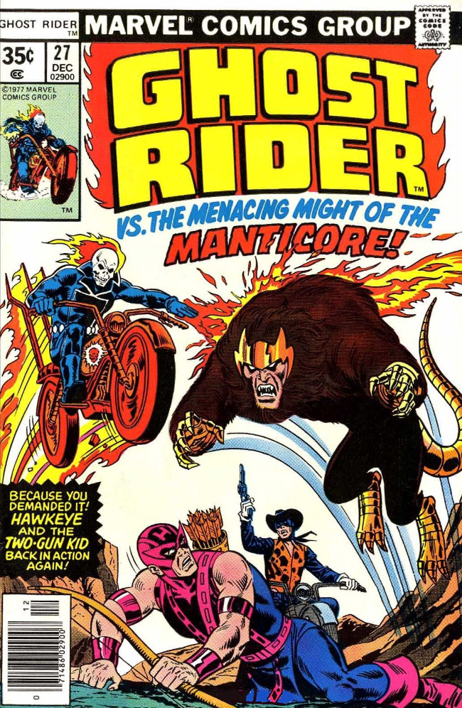 Couverture de Ghost Rider Vol.2 (Marvel comics - 1973) -27- At the Mercy of the Manticore!