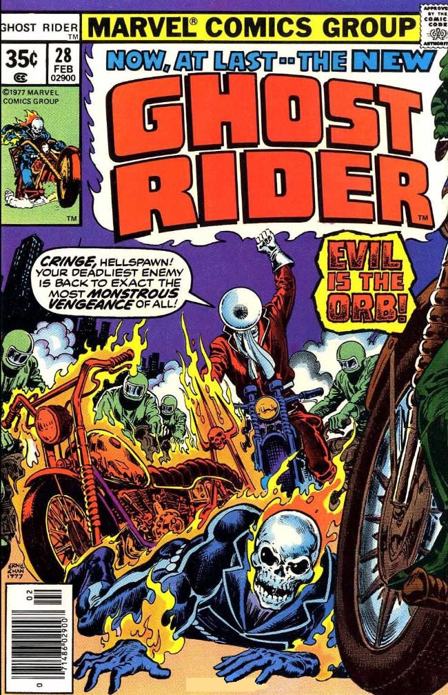 Couverture de Ghost Rider Vol.2 (Marvel comics - 1973) -28- Evil is the Orb!
