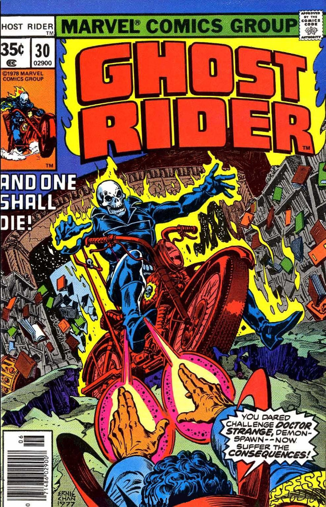 Couverture de Ghost Rider Vol.2 (Marvel comics - 1973) -30- The Mage and the Monster!