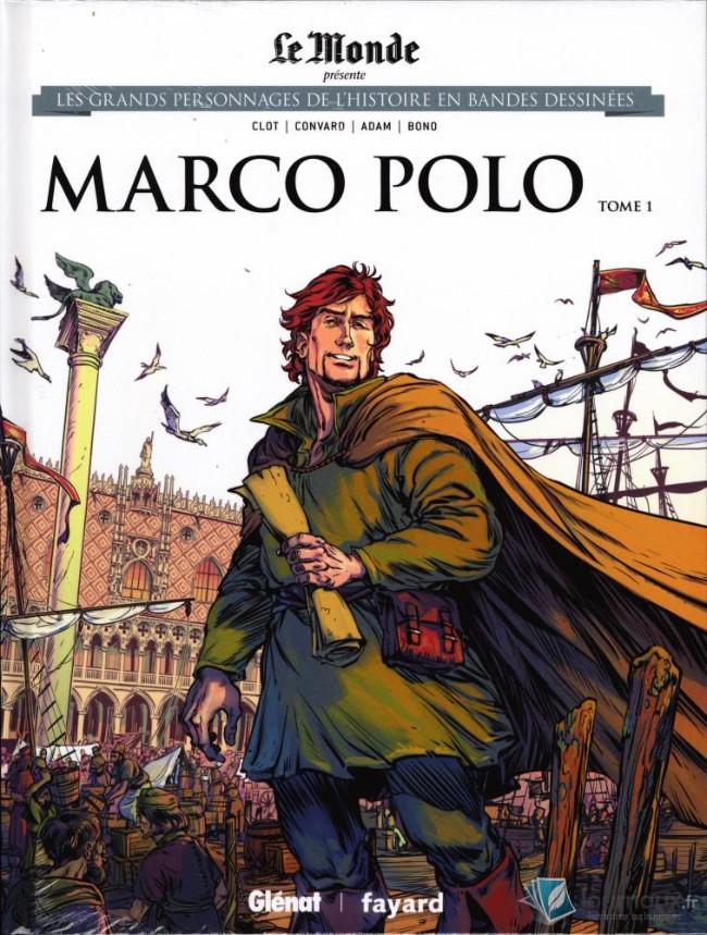 Couverture de Les grands personnages de l'histoire en bandes dessinées -21- Marco Polo - Tome 1