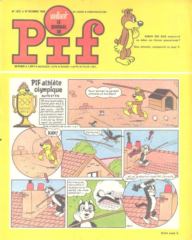 Couverture de Vaillant (le journal le plus captivant) -1221- Vaillant