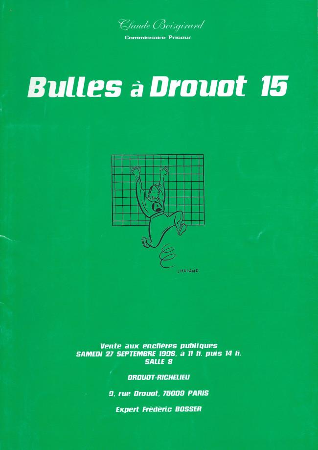 Couverture de (Catalogues) Ventes aux enchères - Divers - Boisgirard - Bulles à Drouot - samedi 27 septembre 1998 - Paris Drouot-Richelieu
