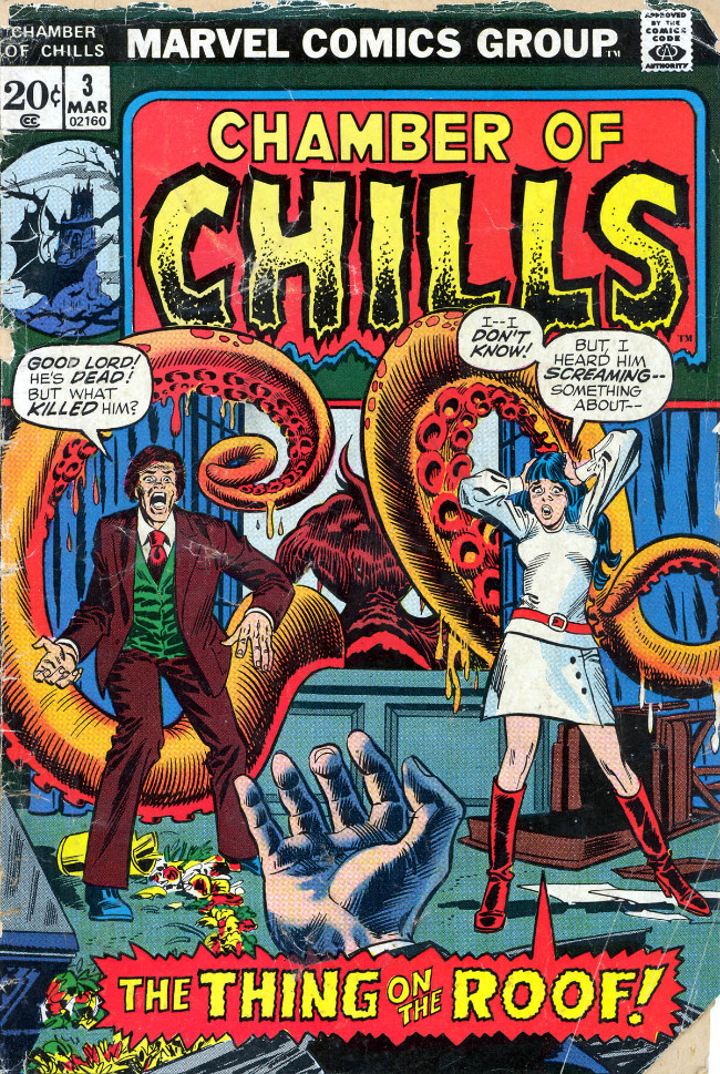 Couverture de Chamber of Chills (Marvel - 1972) -3- The Thing on the Roof!
