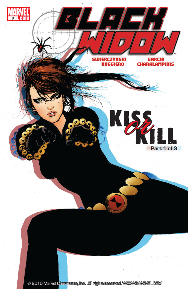 Couverture de Black Widow Vol. 4 (Marvel - 2010) -6- Kiss Or Kill