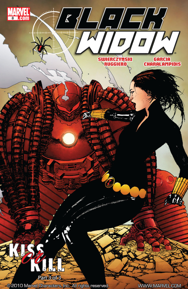 Couverture de Black Widow Vol. 4 (Marvel - 2010) -8- Kiss or Kill, Part 3