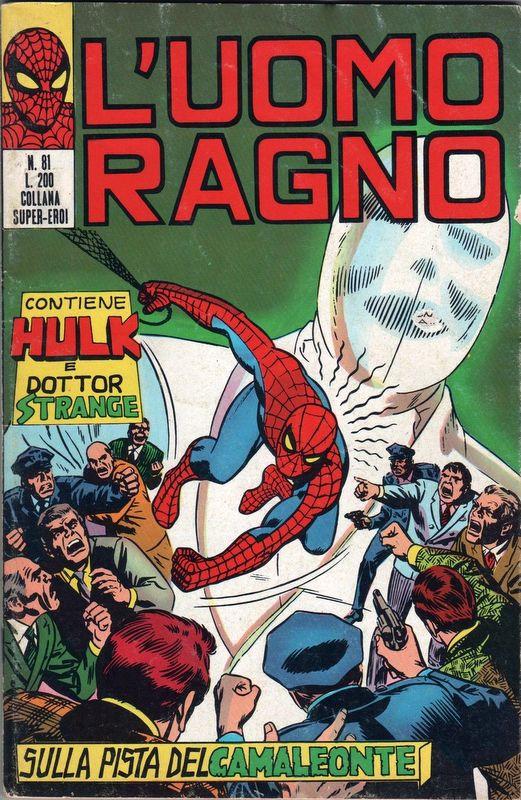 Couverture de L'uomo Ragno V1 (Editoriale Corno - 1970)  -81- Sulla Pista del Camaleonte