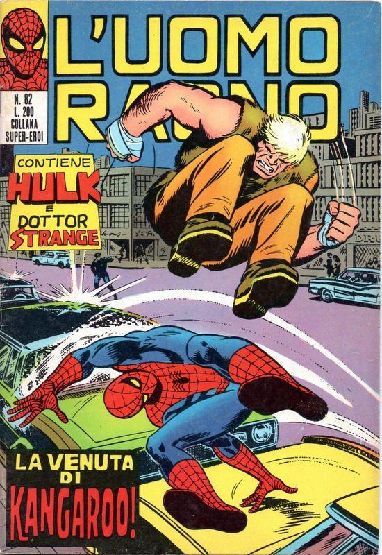 Couverture de L'uomo Ragno V1 (Editoriale Corno - 1970)  -82- La Venuta di Kangaroo!