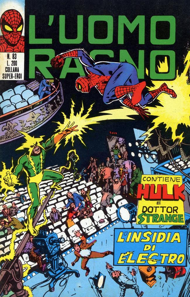 Couverture de L'uomo Ragno (Editoriale Corno) V1 -83- L'Insidia di Electro