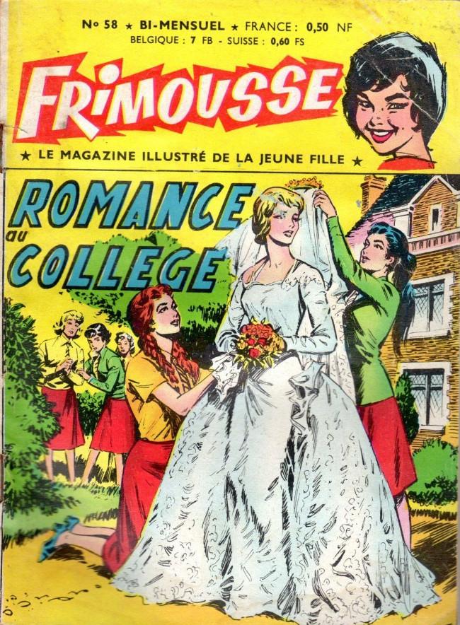 Couverture de Frimousse et Frimousse-Capucine -58- Romance au collège