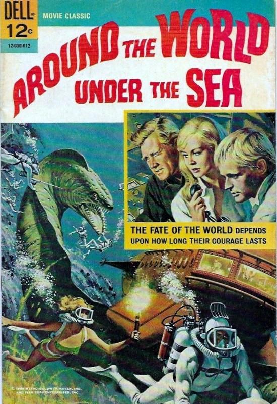Couverture de Movie Classics (Dell - 1962) -30- Around the World Under the Sea