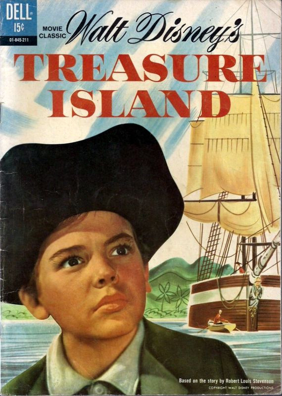 Couverture de Movie Classics (Dell - 1962) -211- Walt Disney's Treasure Island