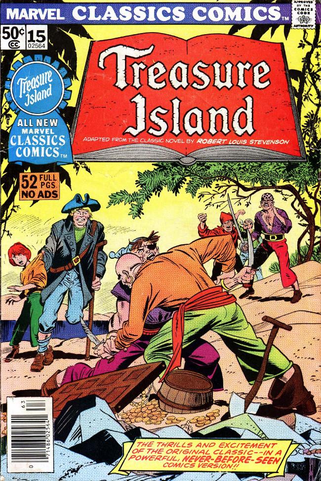 Couverture de Marvel Classics Comics (Marvel - 1976) -15- Treasure Island