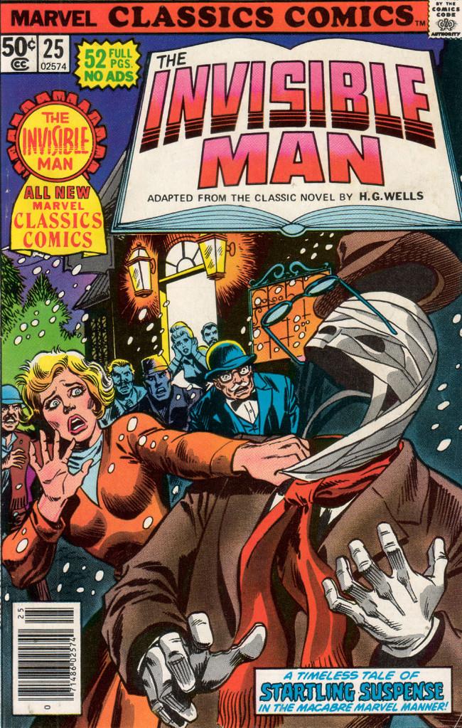 Couverture de Marvel Classics Comics (Marvel - 1976) -25- The Invisible Man