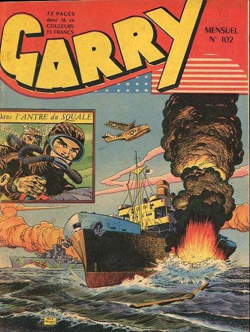 Couverture de Garry (sergent) (Imperia) (1re série grand format - 1 à 189) -102- Dans l'antre du squale