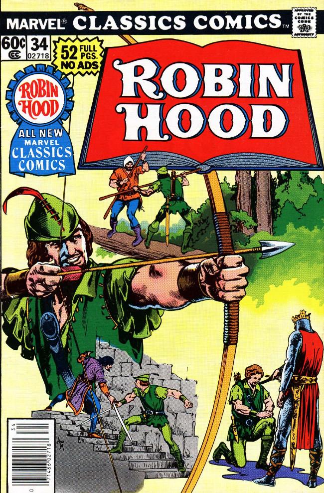 Couverture de Marvel Classics Comics (Marvel - 1976) -34- Robin Hood