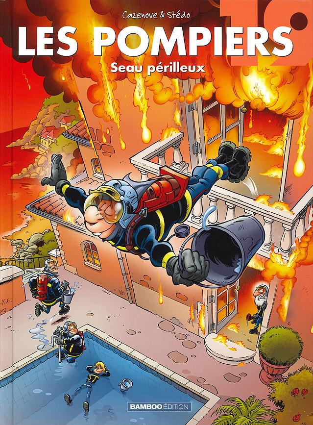 Couverture de Les pompiers -19- Seau perilleux