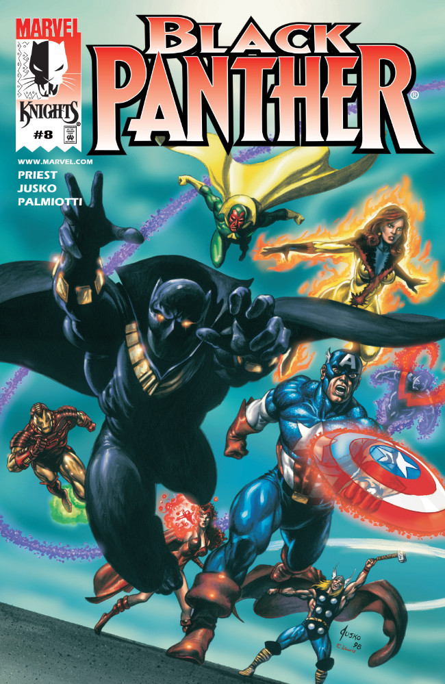 Couverture de Black Panther Vol.3 (Marvel - 1998) -8- That Business with the Avengers!