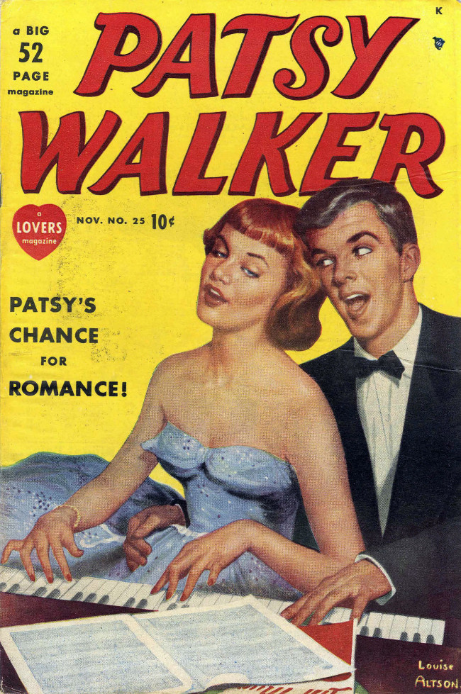 Couverture de Patsy Walker (Timely/Atlas - 1945) -25- Patsy's Chance for Romance!