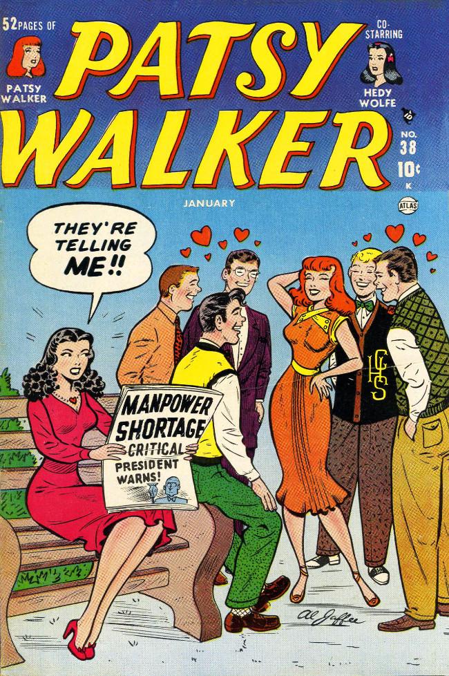 Couverture de Patsy Walker (Timely - 1945) -38- (sans titre)