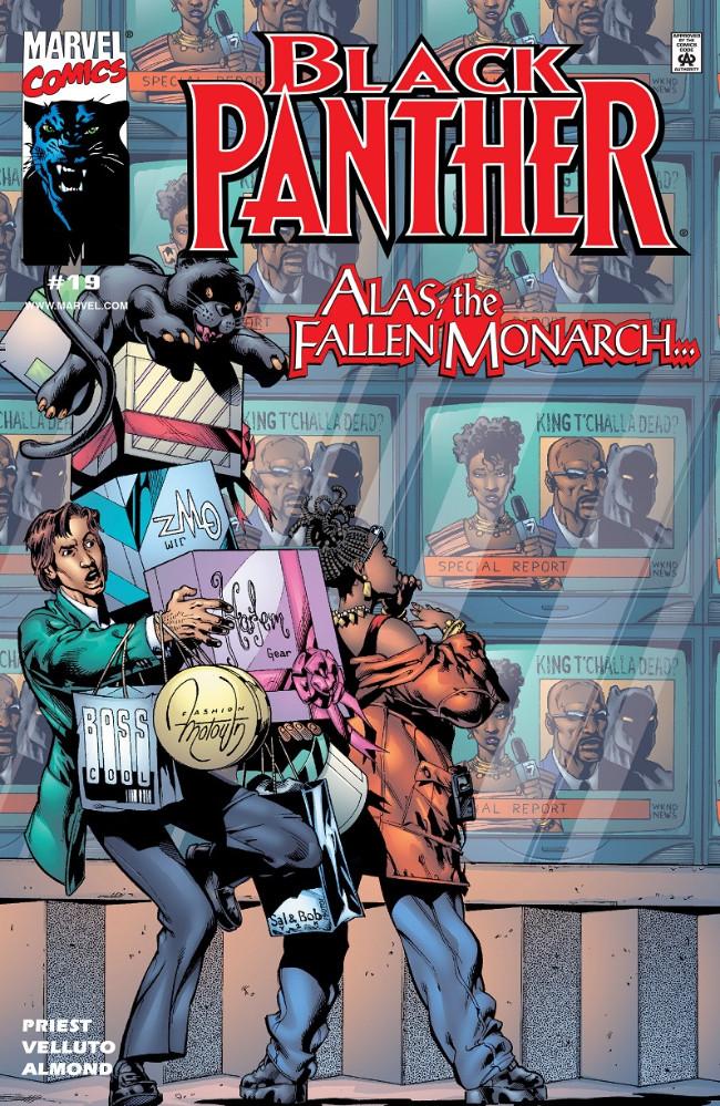 Couverture de Black Panther Vol.3 (Marvel - 1998) -19- Alas, the Fallen Monarch...