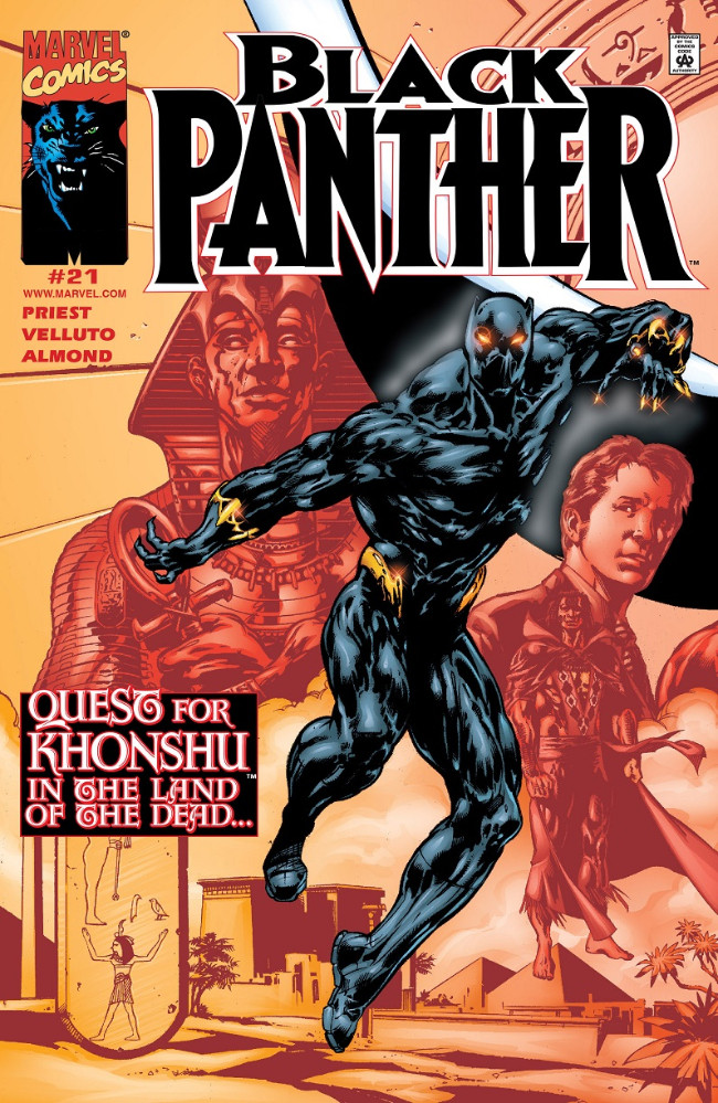 Couverture de Black Panther Vol.3 (Marvel - 1998) -21- Quest for Khonshu in the Land of the Dead...