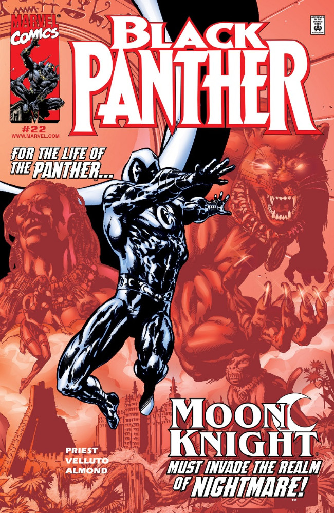 Couverture de Black Panther Vol.3 (Marvel - 1998) -22- Moon Knight must invade de realm of Nightmare!