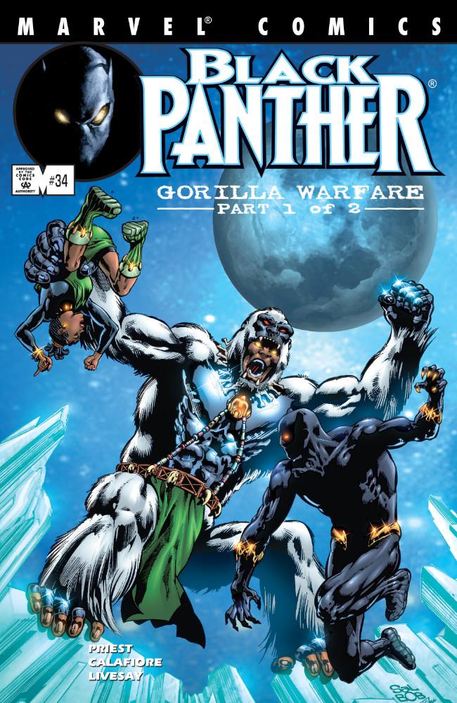 Couverture de Black Panther Vol.3 (Marvel - 1998) -34- Gorilla Warfare Part 1 of 2
