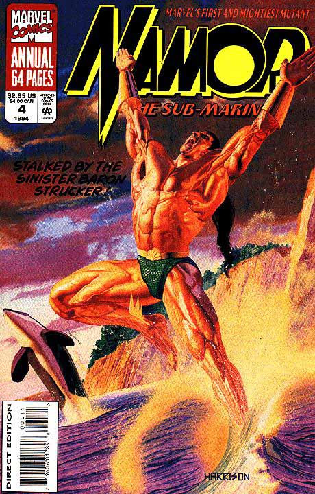 Couverture de Namor, The Sub-Mariner (Marvel - 1990) -AN04- Stalked By the Sinister Baron Strucker!