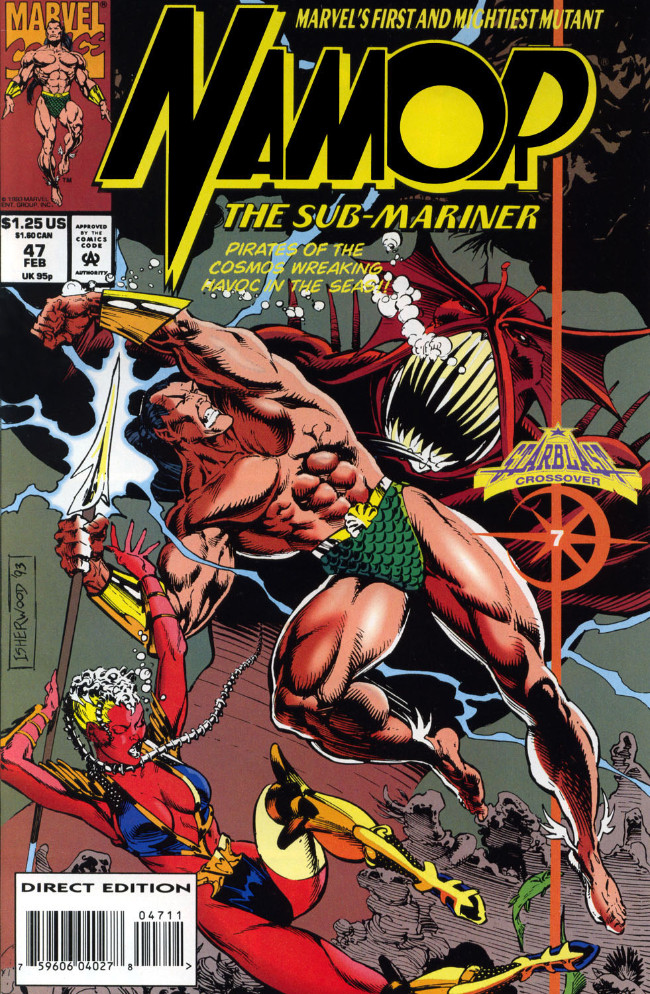 Couverture de Namor, The Sub-Mariner (Marvel - 1990) -47- Pirates of the Cosmos Wrecking Havoc in the Seas!