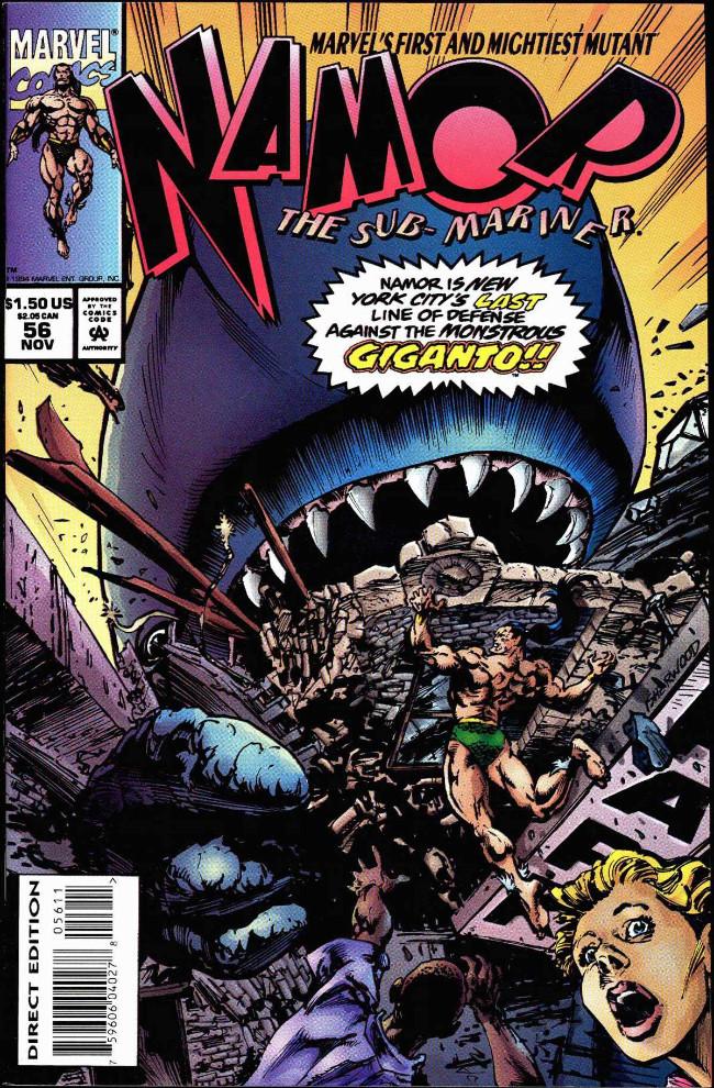 Couverture de Namor, The Sub-Mariner (Marvel - 1990) -56- (sans titre)